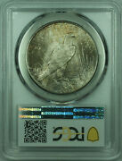 1924 Peace Silver Dollar 1 Coin Pcgs Ms-65 Toned Reverse 29 B