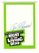 1988 Night Of The Living Dead 20th Anniversary George Romero Autograph Card