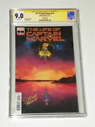 Life Of Captain Marvel 4 Cgc 9.0 Variant First Appearance Mari-el Signed