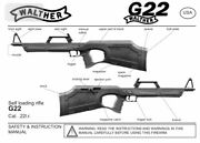 Walther G-22 Rifle Instruction Manual With Free Dvd Gun Manual