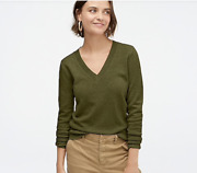 J Crew Womenand039s Cashmere V-neck Fitted Sweater Ad465 Size Xs 128