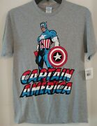 Captain America T-shirt. New With Tags Medium Size Delta Pro Weight Marvel Comic