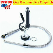 Us Commercial Pre-rinse Faucet Kitchen Sink Faucet Pull Down Spray Head + Hose