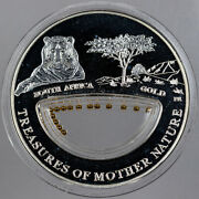 2012 Republic Of Fiji 1 Silver Proof And South Africa Gold Grains In Box W/coa