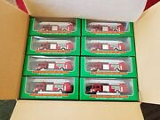 One Case Of 24 Hess Mini Red Fire Trucks From 1999 New In Box