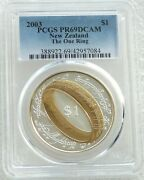 2003 New Zealand Lord Of The Rings One Ring 1 Silver Proof Coin Pcgs Pr69