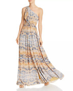 Ramy Brook Linley One-shoulder Maxi Dress Yellow Combo Multi Size 2