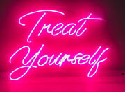 New Treat Yourself Acrylic Bar Lamp Poster Neon Light Sign 24