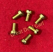 Raw Water Pump Brass Cover Screw Replaces Jabsco 91003-0010 6 Pack
