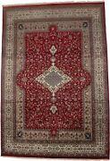 Floral Classic Design Extra Fine 8x12 Hand-knotted Red Oriental Rug Decor Carpet