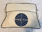 Collectible Vintage White Pan Am Airlines Carry-on Luggage Bag Plane Purse