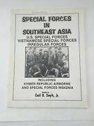 1978 Special Forces In Southeast Asia Insignia Book Vietnamese Irregular Forces