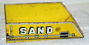 Vintage Marx Toys Sand And Gravel Tin Litho Bed In Great Shape W/ 49 Cent Stamp