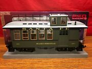 Piko Lgb Compatible G Gauge In/outdoor Santa Fe Wood Drovers Caboose, Green, New
