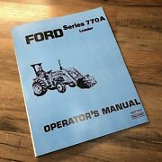 Ford 770a Loader For Tractors Operators Manual Owners Service Book Installation