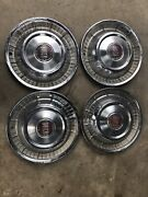 1957 Buick Hub Caps 15 Set Of 4 Wheel Covers Hubcaps 57 Oem Special Gm Factory