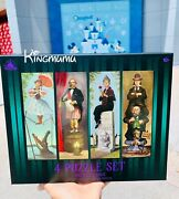 Disney The Haunted Mansion 4 Puzzle Set Stretching Room Portraits 500 Pcs Each