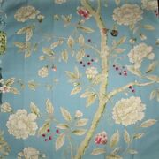 Clarence House Chinoiserie Blossoms Butterflies Berries Fabric 10 Yards Blue
