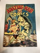 Amazing-man Comics 1940 14 Vg/f Dr. Hypno Dr. Psycho Begins White Pages