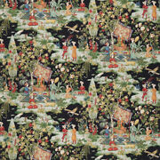 Brunschwig And Fils Middle Eastern Persian Toile Cotton Fabric 10 Yards Black Mult
