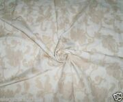 Stroheim Andros Embroidered Acanthus Jacobean Linen Fabric 10 Yards White Cream