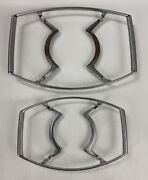 Set Of 2 Vtg Corning Ware Metal Casserole Dish Carriers P-11-m And P-10-m-1 Chrome