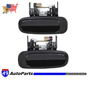 New Door Handles Set Of 2 Rear Driver And Passenger Side Toyota Corolla 1998-2002