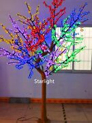 7.5ft Led Christmas Cherry Blossom Tree Light Artificial Natural Trunk Mix Color