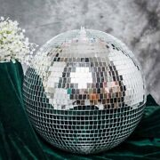 24 Large Silver Glass Hanging Disco Mirror Ball Party Wedding Decorations Sale