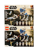 Lego Star Wars 75280 The 501st Legion Clone Troopers Battle Pack Lot Of 2 - New