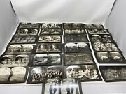 Keystone Stereoview Cards Lot Of 25 Mixed Subject Animals Kids People Landscape