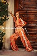 Womens New Kimono Top And Wide Leg Trousers Set Choose Size And Fabric Size L