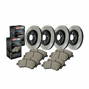 Stoptech For Infiniti / Nissan Disc Brake Pad And Rotor Front-rear Kit - 934.42021