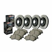 Stoptech For Infiniti / Nissan Disc Brake Pad And Rotor Front-rear Kit - 934.42002