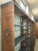 Rare Antique American Snead And Co. Cast Iron Library Bookcases, Multiple Units.