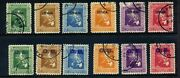 Philippines 425-30 Var Rare Hand Stamp Official And Ob Stamp Full Sets Of 6 Stamps