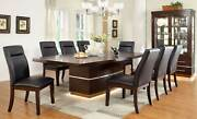 New Modern 9 Piece Dining Room Set Furniture Lighted Brown Rect Table Chairs Ce3