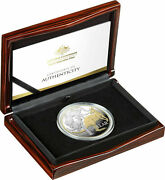 2020 1 5oz Selectively Gold Plated Silver Proof Coin Mob Of Roos