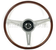 For Porsche 356 A Nardi Complete Mahogany Wood Flat Steering Wheel W/ Horn New