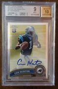 2011 Topps Chrome Variations Refractor 1 Cam Newton Rookie Auto Rc Bgs 9 W/10