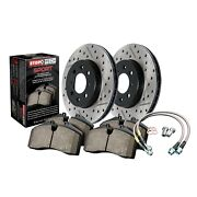 Stoptech For 10-17 Infiniti G37 Q70 Q60 Disc Brake Pad And Rotor Sport 978.42008f