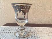 Arte Italica Vetro Silver Water/wine Glass Set Of 4 New Glass And Sterling Silver