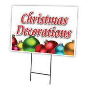 Christmas Decorations Yard Sign And Stake Outdoor Plastic Coroplast Window