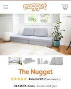 The Nugget Comfort Couch Kids- Koala Gray- In Hand Ships Today