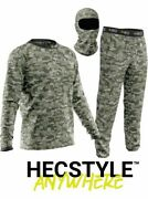 New Hecstyle Suit Deer Hunting Clothing-3 Piece Shirt Pants Headcover - Sm-5xl