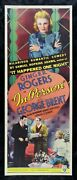 In Person ✯ Cinemasterpieces Movie Poster Rare Insert 1935 Ginger Rogers