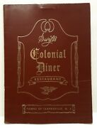 Vintage Colonial Diner And Restaurant Clarksville Nj Menu 1970and039s