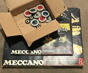 Meccano Set 8 And Mechanisms Plus Extra Wheels Complete 1970s Issue