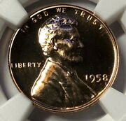1958 Ngc Pf69 Rd Proof Lincoln Wheat Cent 1c Rare Early Us Proof Penny