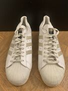 Adidas Superstar Made In France 3013 90 White Beige Menandrsquos Size Fr 44 Gr 9.5